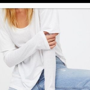 FREE PEOPLE WHITE HENLEY NWT